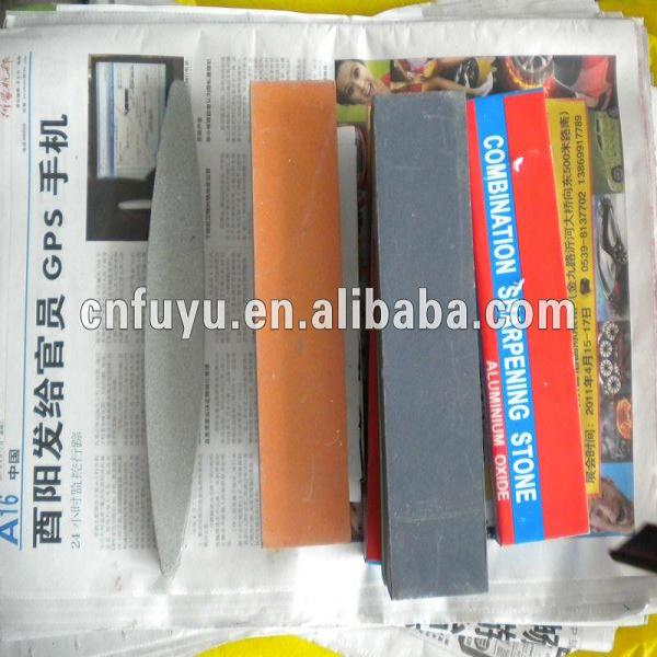 "turkey aluminium oxide oil stone red color 8"" 6"" factory china"