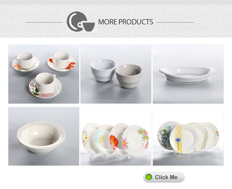 stock cheap wholesale white porcelain decal plate dishes