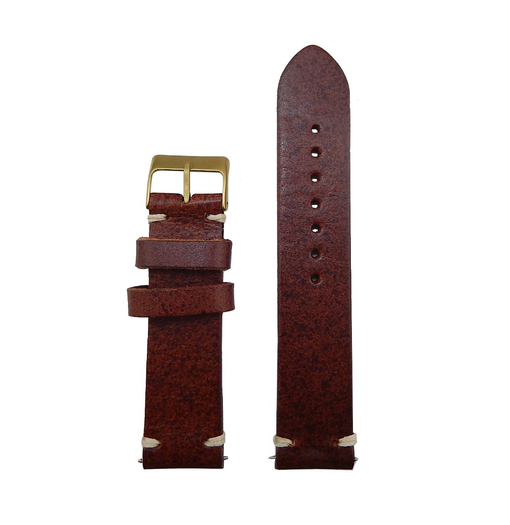 wholesale Bronze buckle 18mm/20mm/22mm/24mm/26mm nato handmade leather watch strap for men's watch strap