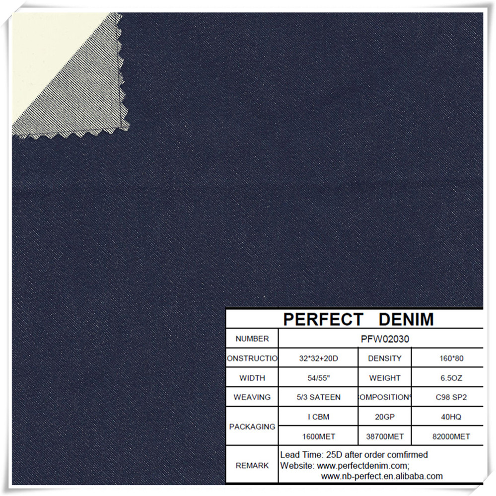 wholesale cotton stretch denim jeans fabric price from China supplier