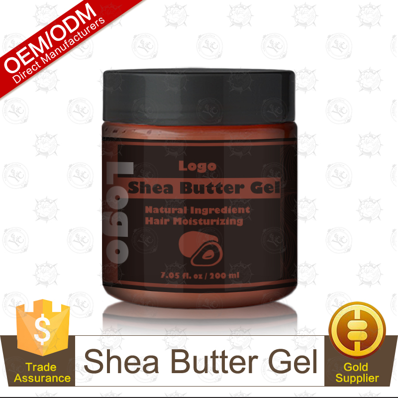 High Quality Natural Ingredient Shea Butter Gel 200ml Hair Styling and Moisturizing Product OEM/ODM Supplier
