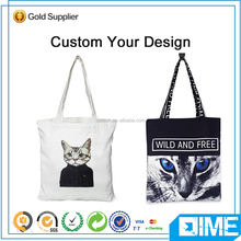 Cat Silicon Beach Cotton Shopping Bag With Rope Handle