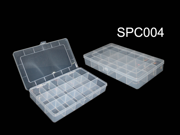 Transparent plastic fishing lure storage box case