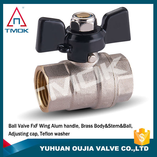 DN15 DN20 Nickel plated FF thread italy style acid brass ball valve for indian market