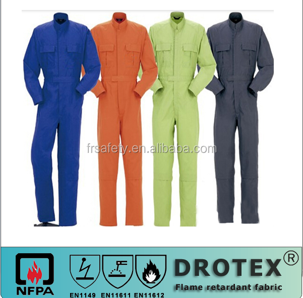 protective welder uniform oil water repellent & fire resistant coverall series ASTMF1506 HRC2 EN11611