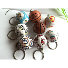 2017 trending PVC sports football/soccer keychain, countries flag football keychain /ring