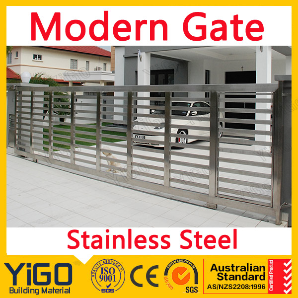 Stainless Steel Modern House Gate Designs: House Steel Slide Main Gate Designs