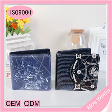 Fashion Wallet Japanese Anime 3D High Definition Sublimation Custom Print Cartoon Wallet Purse Short Wallet For Men Women