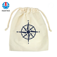 Fugang Hot Sale Customized Recyclable Small Size Cotton Pouch Bag Drawstring