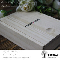 HONGDAO Christmas custom wood photo and usb box