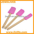 Silicone kitchen set / butter scrape with wooden handle