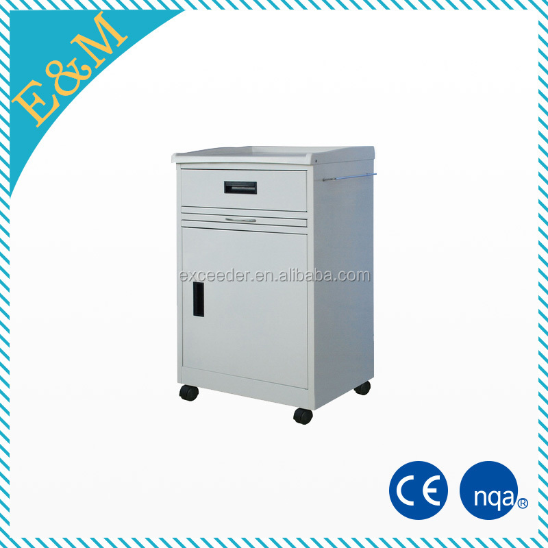 Cheap hospital ABS Plastic Bedside Table, Bedside Locker for Hospital and Clinic