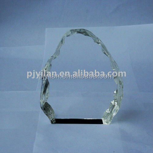 beautiful clear blank crystal iceberg award plaque for engraving