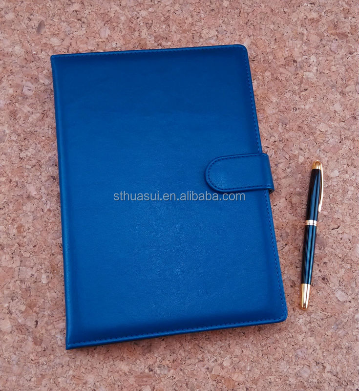 2014 A5 Leather Organizer With button