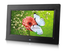 "supermarket advertising 10"" tft lcd screen display digital photo frame in 1024*600"