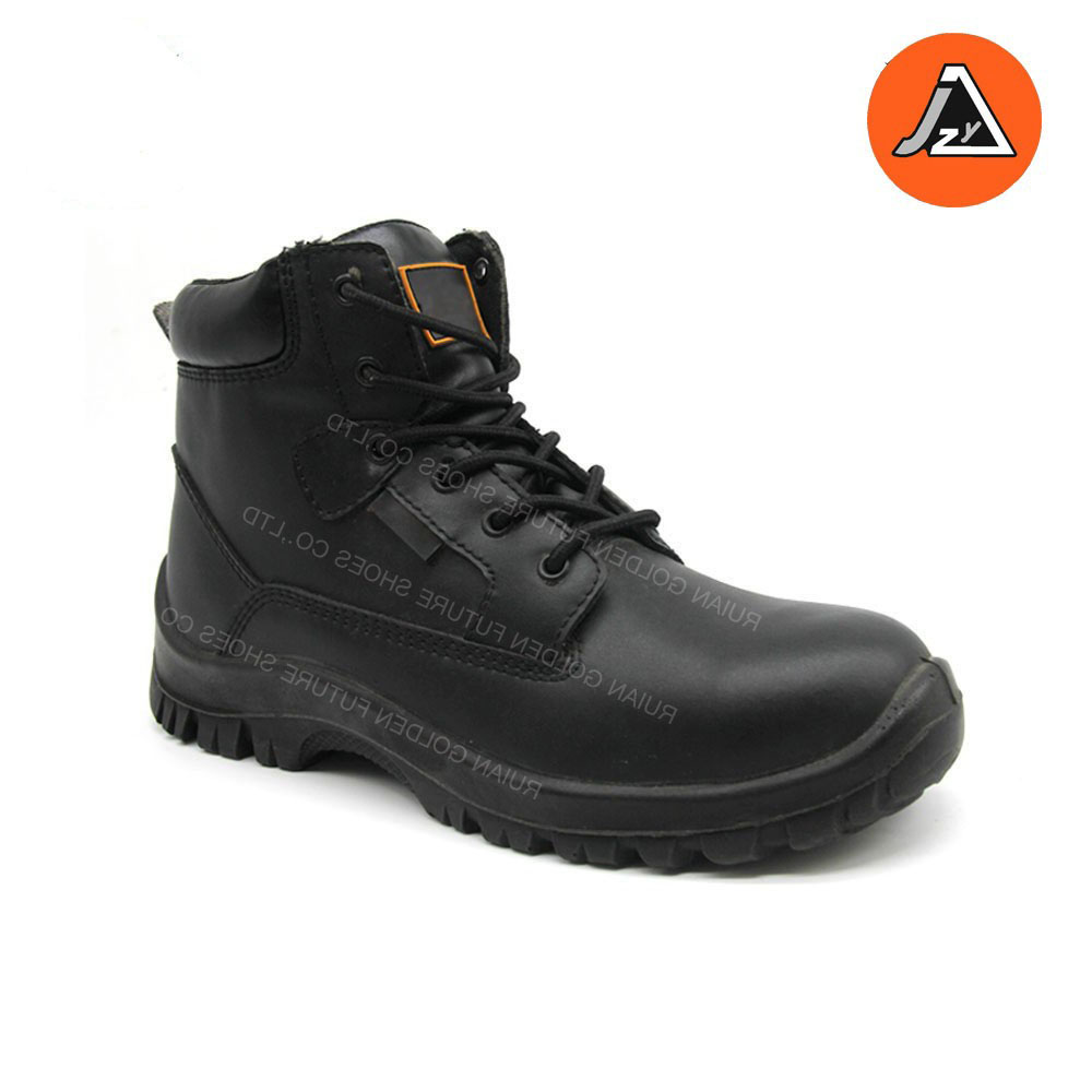 black safety shoe high quality water resistant safety footwear ITEM# JZY0305S2