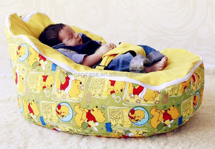 Lovely Cartoon Bear Bean Bag Kids Toddlers Beanbag Chair With Harness And 2 Upper Cover Tops High Quality Baby Sofa Beds