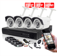 New HD 720P 4CH DVR CCTV Camera Kit cheap home security camera systems