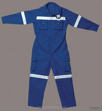 coverall for workwer with reflective tapes good quality,Customized design,navy coverall
