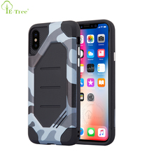 Jungle Camouflage Shockproof Hybrid Hard PC Cover Rugged Phone Case For iPhone X