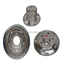Stainless Steel Truck Wheel Cover 16''coaster wheel trims