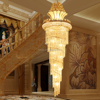 New modern European simple penthouse villa crystal chandelier for hotel and living room