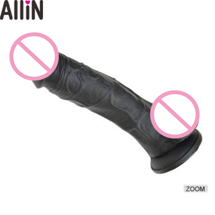 Vivid Realistic artificial penis Silicone rubber penis sex toy Dildo for Women Men's Penis