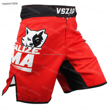 men breathable fabric custom sublimation mma shorts