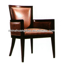 Upholstered dining chairs with arms HDAC067