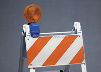 Traffic road construction safety LED barricade Lights for road block barrier