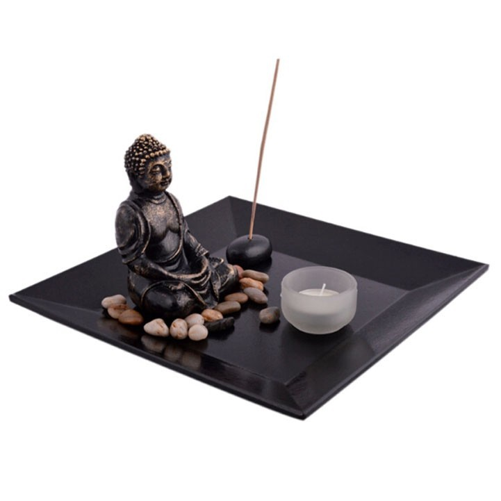 Resin Buddhist statues Zen Garden Set , Garden Decoration Resin buddha Figurine Souvenirs For 2014