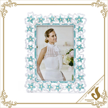 Blue flower crystal diamond love home picture photo frames wholesale gold supllier