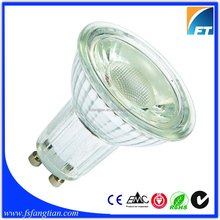 50W Replacement Glass Shell 5W Dimmable LED Spot Light GU10 Base