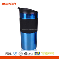 Eco-friendly Stainless Steel Customized Coffee Travel Mug With Slilicone Sleeve