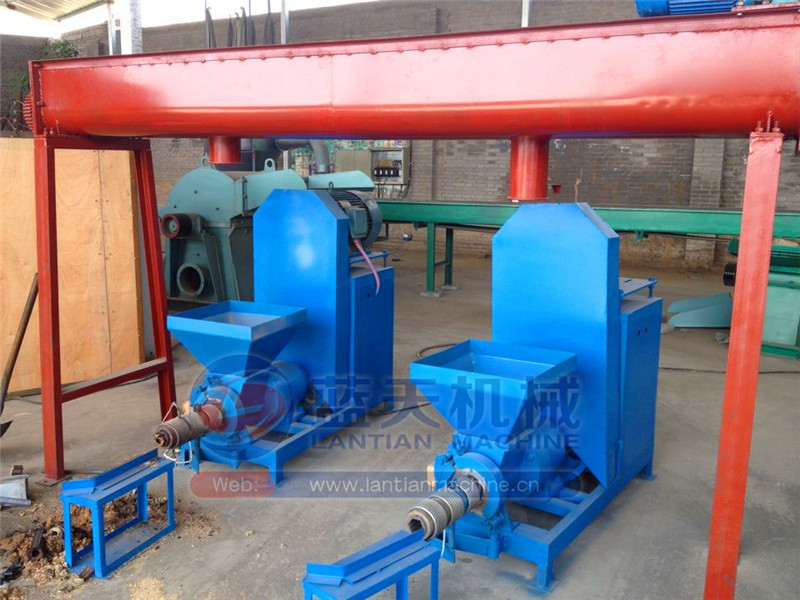 High working efficiency charcoal sawdust briquette making machine for wood round rod