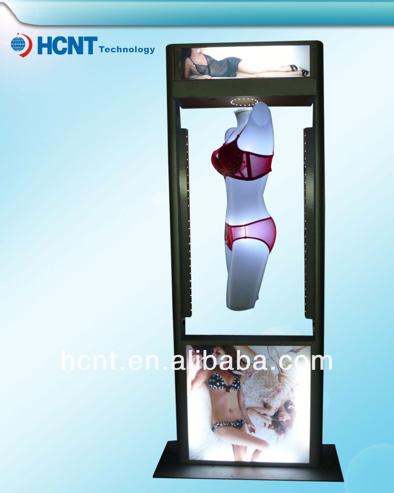 New Invention ! magnetic levitation led display rack for underwear, ilys bra