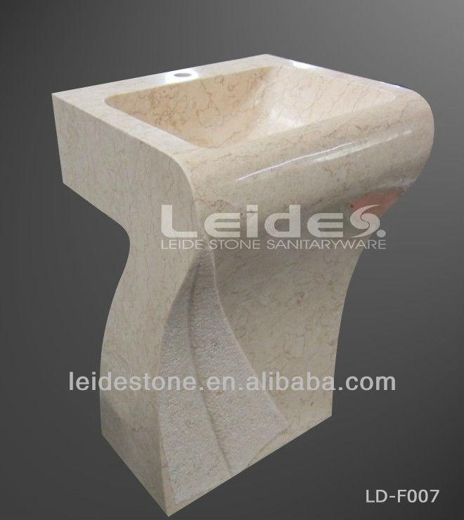 Marble Pedestal Sink : Marble Pedestal Sink - Buy Beige Marble Pedestal Sink,Marble Pedestal ...