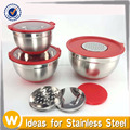 New Design 3PC Stainless Steel Mixing Bowl Set With Non-skid Silicone Base