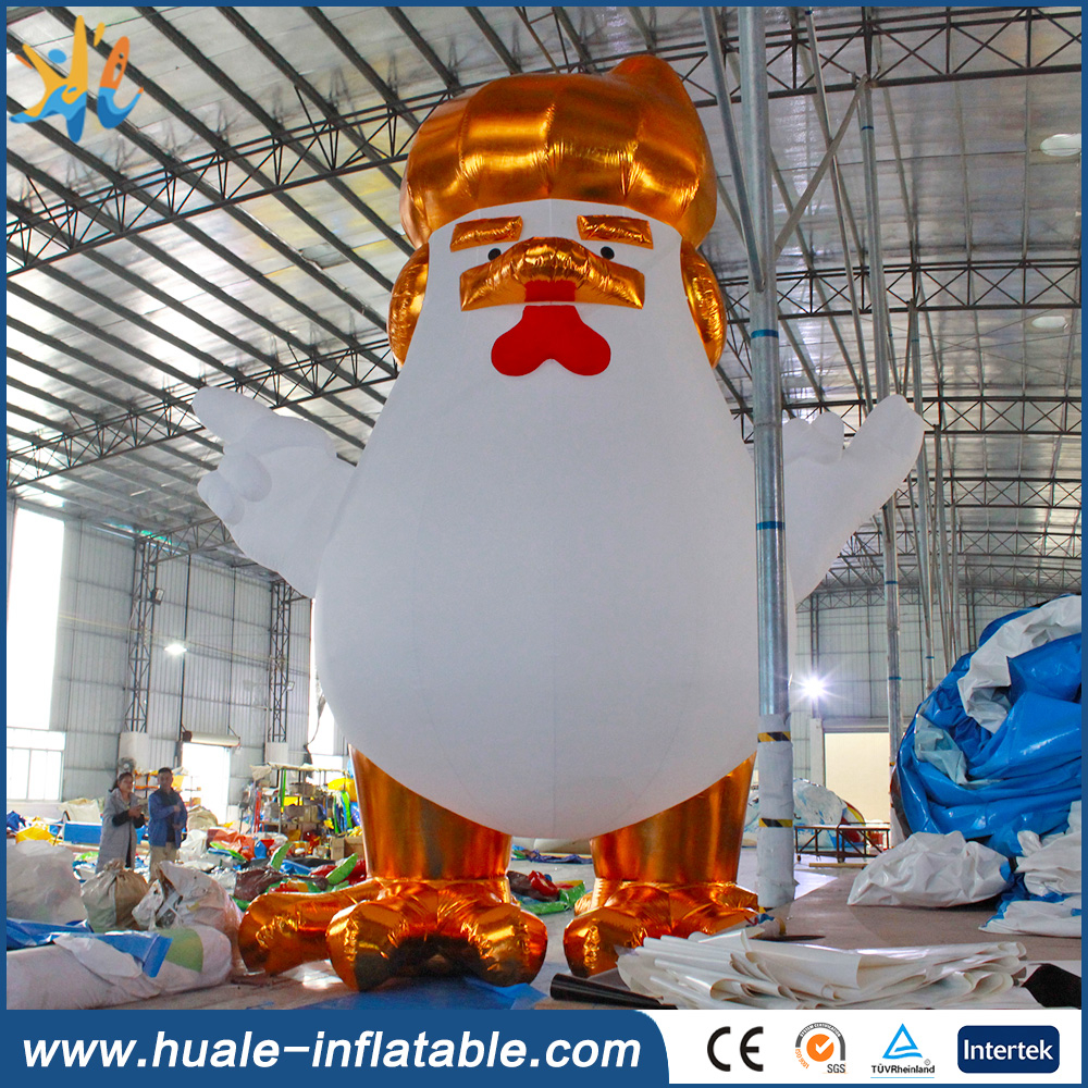 Best quality new rooster trump giant inflatable trump cartoon chicken