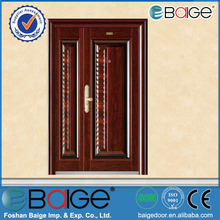 BG-S9275B commercial steel double entry door/luxury stainless steel entry door