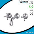 Bathtub 2 holes wall mounted faucet bathroom equipment