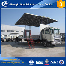 hydraulic 45m3 50m3 60m3 folding mobile stage trailer truck for sale