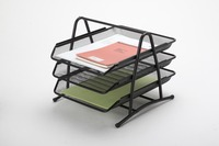 Metal Mesh Desktop File Sorter,Organizer,Holder For Magazines,Books And Letters