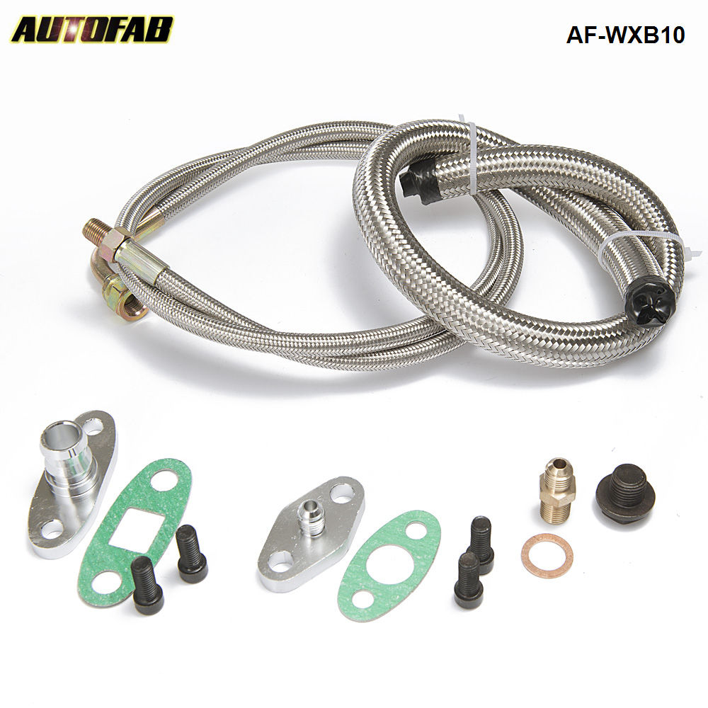 AUTOFAB -Turbo Oil&Water Feed Line Kit/Turbocharger Oil Drain Return Line Suit T3,T4,T35,T40,T60,T67,T70,T76 Turbos AF-WXB10