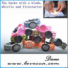 Online shop wholesale paracord bracelet for girls, team logo paracord bracelet, paracord bracelet watch