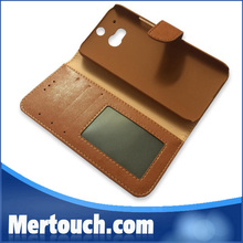 leather phone case for HTC one M7 , leather cell phone case for HTC One m7 , for HTC M7 mobile phone leather case