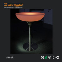 illuminated bar table stainless bar table led furniture