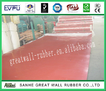 Great Wall 22MPA Red Natural Latex Rubber flooring