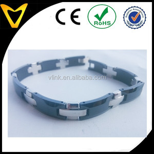 Black and white tungsten bracelet,fashion men bracelet,watch ops bracelets by Vlink jewelry