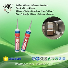 280ml Mirror Black Glass Finish Stainless Steel Sheet Eco-friendly Silicone Sealant
